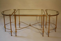 French 1950`s three section occasioal table - picture 1