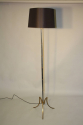 French 1950`s grey/blue metal and brass floor lamp - picture 1