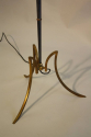 French 1950`s grey/blue metal and brass floor lamp - picture 3