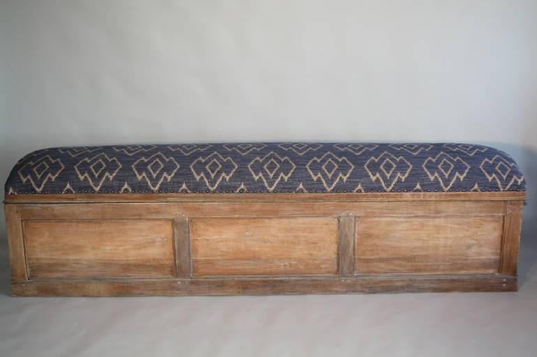 C19th Antique Oak long storage bench