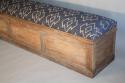 C19th Antique Oak long storage bench - picture 2