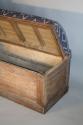 C19th Antique Oak long storage bench - picture 4