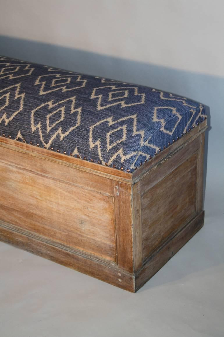 C19th Antique Oak Long Storage Bench In Furniture