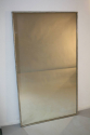 A large narrow framed silver bistro mirror - picture 2
