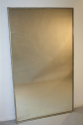 A large narrow framed silver bistro mirror - picture 3