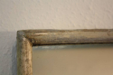 A large narrow framed silver bistro mirror - picture 6