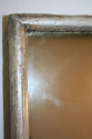 A large narrow framed silver bistro mirror - picture 7