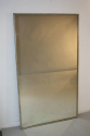 A large narrow framed silver bistro mirror - picture 9