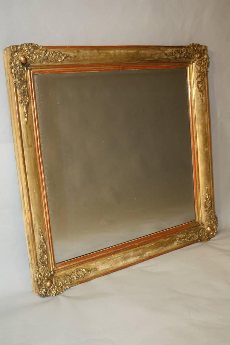 Square C19th French mirror