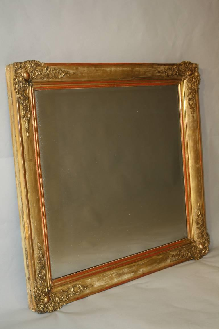 Square c19th french mirror in mirrors for Square mirror