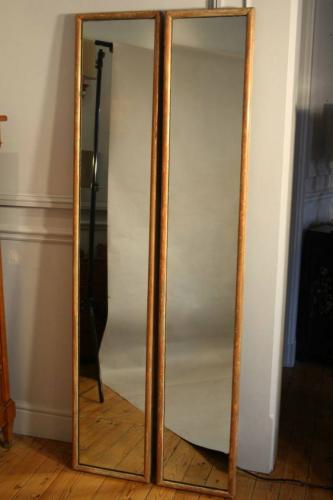 Pair of tall narrow mirrors