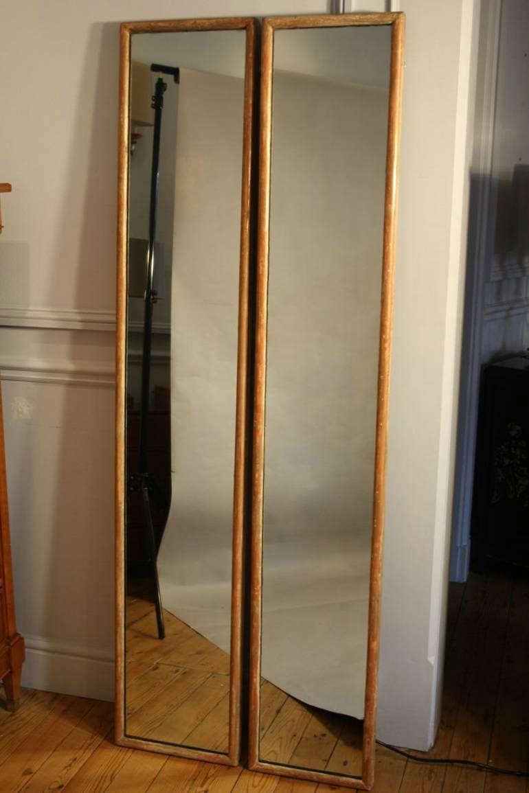 Pair of tall narrow mirrors