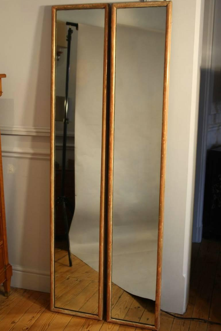 Pair of tall narrow mirrors in mirrors for Tall slim mirror