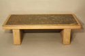Fossil and solid oak coffee table - picture 3