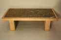 Fossil and solid oak coffee table - picture 5