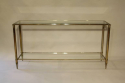 A silver and gold metal two tier console, French c1970 - picture 1