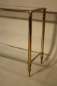 A silver and gold metal two tier console, French c1970 - picture 2