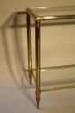 A silver and gold metal two tier console, French c1970 - picture 3