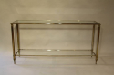 A silver and gold metal two tier console, French c1970 - picture 4