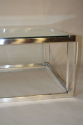 Long rectangular glass, lucite and silver metal 1970`s coffee table - picture 2