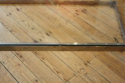 Long rectangular glass, lucite and silver metal 1970`s coffee table - picture 4