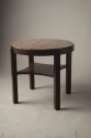 Antique Art Deco table with red marble top - picture 1