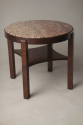 Antique Art Deco table with red marble top - picture 2