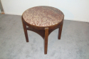 Antique Art Deco table with red marble top - picture 3