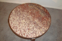 Antique Art Deco table with red marble top - picture 4
