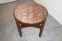 Antique Art Deco table with red marble top - picture 5