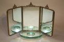 Italian triptych dressing table mirror - picture 2