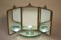 Italian triptych dressing table mirror - picture 3
