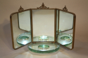 Italian triptych dressing table mirror - picture 4