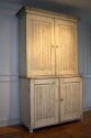 C19th original cream painted Swedish buffet deux corps - picture 2