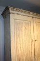 C19th original cream painted Swedish buffet deux corps - picture 3