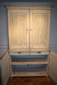 C19th original cream painted Swedish buffet deux corps - picture 7