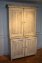 C19th original cream painted Swedish buffet deux corps - picture 8