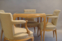 Rene Prou sycamore table and chairs, France c1935 - picture 1