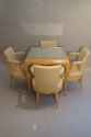 Rene Prou sycamore table and chairs, France c1935 - picture 3
