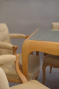 Rene Prou sycamore table and chairs, France c1935 - picture 4
