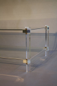 A two tier lucite rectangular coffee table, French c1970 - picture 1