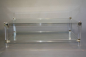 A two tier lucite rectangular coffee table, French c1970 - picture 2