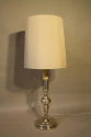 Tall silver Spanish table lamp - picture 1