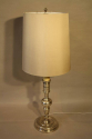 Tall silver Spanish table lamp - picture 4