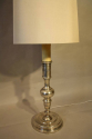Tall silver Spanish table lamp - picture 7