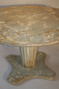 French 1950`s grey/blue painted circular pedestal dining/centre table. - picture 5