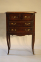 Louis XVI style four drawer oak side cabinet - picture 2