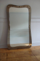Elegantly shaped 1950`s Italian mirror with brown glass border. Original condition - picture 3