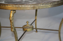 Circular gilt metal and marble side/coffee table, French c1950 - picture 4