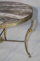 Circular gilt metal and marble side/coffee table, French c1950 - picture 5
